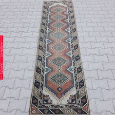 Old Turkish Oushak Runner Rug ! Types Of Carpet, Fade Color, Rugs On Carpet, Carpets, Shop Interior Design, Rustic Rugs, Runes, Handmade Rugs, Rug Runner