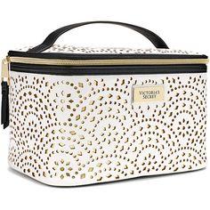 c30caf0331 Victoria 039 s Secret White Gold Laser Cut Makeup Train Bag Duo Travel Set  Brand New · Makeup Brush BagMakeup CasePink Makeup BagTravel Cosmetic ...