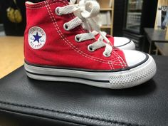caf49a05647 Converse All Star Chuck Taylor Infant toddler Boys Red Hightop Shoes-size 6