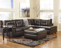 Alliston 2 pc sectional and oversized ottoman from Signature Designs by Ashley Furniture.
