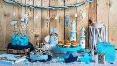 Θέματα για βάπτιση: Οι καλύτερες ιδέες για καλοκαιρινή βάπτιση το 2017 Table Decorations, Party, Furniture, Home Decor, Decoration Home, Room Decor, Parties, Home Furnishings, Home Interior Design