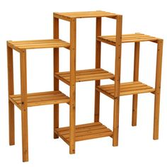 Leisure Cypress Wood 7 Tier Plant Stand (Storage), Brown #PS6117, Outdoor  Décor
