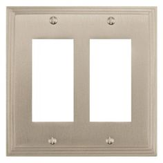 Deco Design Solid Brass Double Paddle Switch/GFI Plate