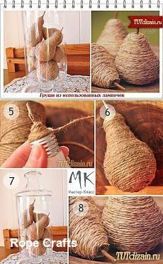 Best DIY Crafts with Ropes - Manualidades y Bricolaje Ropa Jute Crafts, Handmade Crafts, Diy And Crafts, Kids Crafts, Decoration Creche, Rope Art, Diy Art, Diy Gifts, Christmas Diy