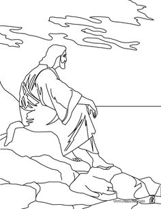 jesus returning color page  Jesus Second Coming Coloring Page