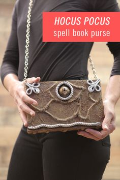 The spookiest time of year is nearly upon us and we have the most stylish Halloween DIY calling your name. With a paper bag, paint, and some DIY witchcraft, you can transform an old, damaged book into this DIY Hocus Pocus Spell Book Purse. Instead of running amok trying to find a costume, don all black and wear this ghoulish fashion accessory — to channel your inner Sanderson Sister anywhere you go. Don't miss 13 Nights of Halloween on Freeform, now through October 31st.