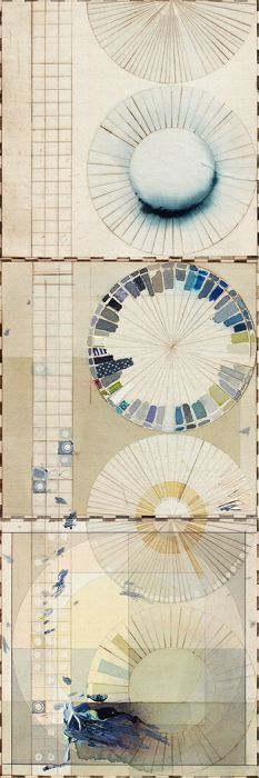 Color Wheels | Ellen Heck. intaglio printed. each wheel is motivated by a visual theme and or a process e.g. charting the color of the San Fran Bay over time.