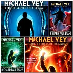 Michael Vey books by Richard Paul Evans. These are SO good. And can we just talk about Michael and Taylor?✋