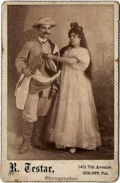 Cuban couple wearing traditional costumes ca. 1890