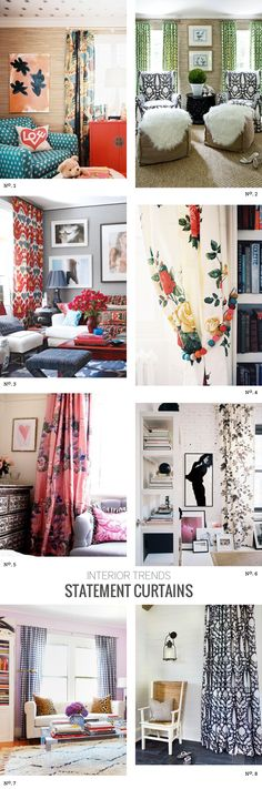 Great rooms with lots of mixed patterns