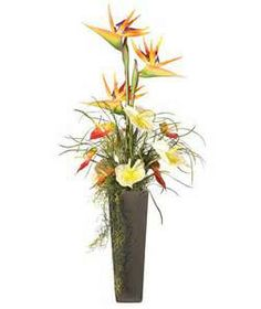 advance flower arrangement with satin flowers - Bing Images