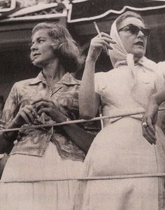 Lauren Bacall and Slim Keith
