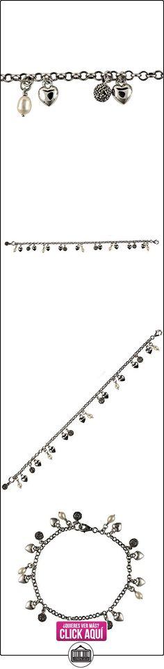Esse Marcasita Plata esterlina de la perla de agua dulce de China y marcasita corazón brazalete de longitud 17 cm  ✿ Joyas para niñas - Regalos ✿ ▬► Ver oferta: https://comprar.io/goto/B01BHMHNEA