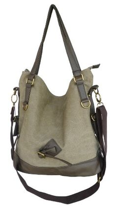 Black Friday Otium 20228MCF Retro Canvas Handbag Tote Bag,Garment Washed Coffee from Otium