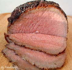 Cooks Illustrated has the most popular way to cook eye of round roast. Saving this recipe as it has times and temps, as well as how long to cook for rare, medium rare or medium. On e-how, they recommend browning in the oven: same prep, 400 degrees for 15 minutes to brown, then 1.5 hours at 325 for rest of cooking.