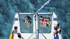 Clear blue waters: Relaxing on a catamaran. White Sand Beach, Catamaran, Travel And Leisure, Archipelago, The Twenties, Paradise, To Go, Heaven, Australia