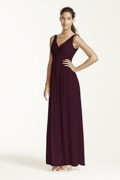 Long Mesh Bridesmaid Dress with Cowl Back Detail Style F15933, Garnet, 22 David's Bridal http://www.amazon.com/dp/B00RZI28I2/ref=cm_sw_r_pi_dp_2Sovvb12M4RGJ