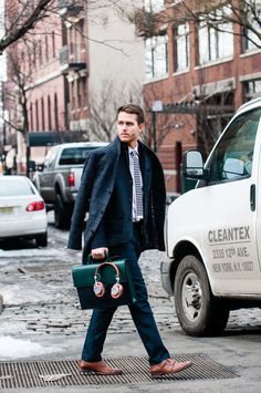 "lordandtaylor: ""Adam Gallagher masters layering…and looks more than ready for NYFW. Dapper Gentleman, Modern Gentleman, Gentleman Style, Sharp Dressed Man, Well Dressed Men, Burberry Men, Gucci Men, Mens Fashion Blog, Men's Fashion"