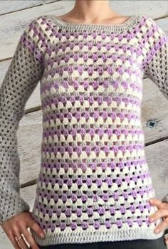 [Crochet Video Tutorial] This Multicolored Granny Sweater Pattern Is Genius