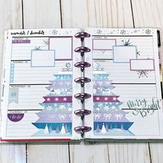 Happy 💜 I'm loving the pastels and snowflakes this week! Cyber Monday sale is going on in the shop. Planner Layout, Goals Planner, Planner Ideas, Calendar Ideas, Digital Bullet Journal, Mini Happy Planner, Best Planners, Planner Decorating, Planner Organization