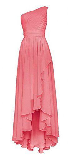 Olidress Women's One Shoulder High Low Long Chiffon Prom Bridesmaid Dress Coral US2 Olidress http://www.amazon.com/dp/B01AQKI5VE/ref=cm_sw_r_pi_dp_yYbXwb1K6E1A6