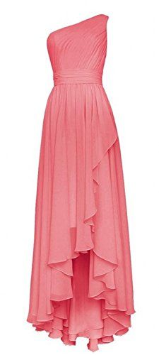 Olidress Women's One Shoulder High Low Long Chiffon Prom Bridesmaid Dress Coral US2 Olidress http://www.amazon.com/dp/B01AQKI5VE/ref=cm_sw_r_pi_dp_yYbXwb1K6E1A6