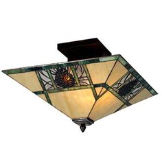 Meyda Tiffany 67849 Pinecone Semi Flush Ceiling Light
