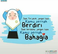 Kamu pernah bahagia New Reminder, Cute Muslim Couples, Islamic Cartoon, Anime Muslim, Islamic Quotes Wallpaper, Allah Love, Muslim Quotes, Islamic Pictures, Line Sticker