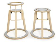 Seimi's Rinki Highchair - A stool that can be converted into a highchair.