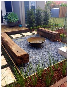 Backyard Seating, Backyard Patio Designs, Small Backyard Landscaping, Fire Pit Backyard, Backyard Ideas, Firepit Ideas, Deck Fire Pit, Fire Pit Area, Modern Backyard