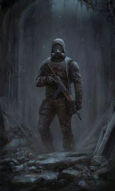 Apocalypse, gas masks, weapon