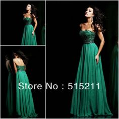 green evening gown - Google Search