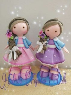 Foam Crafts, Diy And Crafts, Arts And Crafts, Clay Ornaments, Fimo Clay, Child Doll, Kids Dolls, Sugar Art, Cold Porcelain