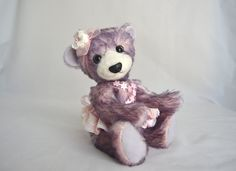 Collectible Pink Mohair Teddy Bear - 'Grace' by LakeDistrictTeddies on Etsy