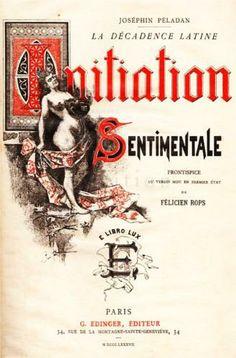 Front Cover of Joséphin Péladan's Novel 'Initiation Sentimentale' - Felicien Rops