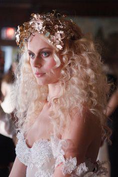 Teased hair and a smoky ey at the Galia Lahav Bridal Spring 2016 show // Wedding Hair and Makeup Ideas From Bridal Fashion Week