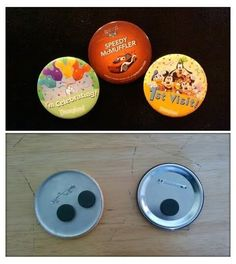 Make Your Free Buttons into Fridge Magnets | 19 Magical Ways To Remember Your Disney Vacation