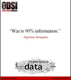 """#FoodForThought """"War is 90% Information"""" What are you doing to keep your precious #data safe & secure?"""