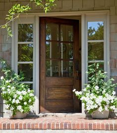 Home & Garden - front door and porch -- I love the warmth of brick!