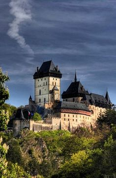 Karlštejn Castle-Czech Republic- Karlstejn Castle was founded in 1348. It was built by Czech King and Roman Emperor Charles IV as a place for safekeeping of the royal treasures, especially Charles's collection of holy relics and the coronation jewels of the Roman Empire. The present appearance of the castle comes from the last reconstruction at the end of the 19th century, by architect Josef Mocker. The castle is arranged in a step-like order.