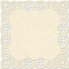 Cream Colored Doily Lace Patterned Scrapbooking Paper With Die Cut Edges, From the Bloom Collection and Narratives Line, Designed by Karen Russell For Creative Imaginations