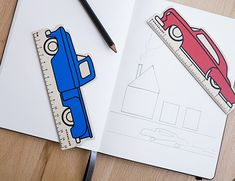 Funky car rulers for back to school from Kikkerland  | Cool Mom Picks Back to School Guide 2016