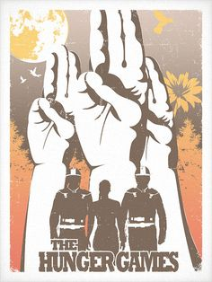 The Hunger Games (Screen Printed Poster)  ~thesequietsounds on etsy