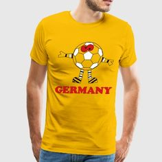 Germany Shirt Soccer Ball Cool - Men's Premium T-Shirt