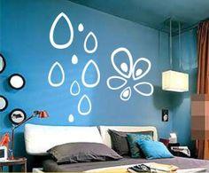 Polka a goccia- a forma di in rilievo tre- della parete tridimensionale adesivi/diy tv sfondo decorazione- bianco 1 set di 10 muro adesivo