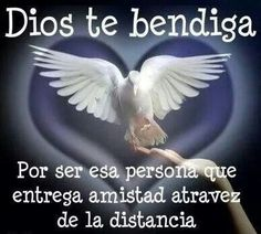 Dios te bendiga.