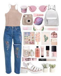 """My ghost where'd you go?"" by kisskatabogi ❤ liked on Polyvore featuring Allstate Floral, Lily White, Topshop, Oliver Peoples, Cloud 9, Lancôme, Christian Dior, Tory Burch, Urban Outfitters and Voluspa"