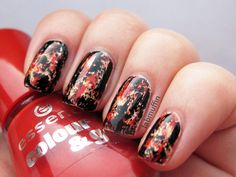 Artsy Wednesday this week is inspired by a tutorial. I chose Chalkboard Nails' distressed nails - it's a look I've wanted to try for a while!