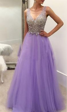 Formal Dress, Lavender Long Prom Dresses Party Evening Dress Beading Pleated Back Zipper Floor Length Prom Dress,Wedding Guest Prom Gowns, Formal Occasion Dresses,Formal Dress