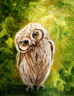 Whooo are you - original acrylic painting BTW, get this cool art app. Owl Art, Bird Art, Acrylic Painting Trees, Animal Paintings, Painting Inspiration, Painting & Drawing, Art Drawings, Illustration Art, Canvas Art